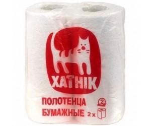 "Кухонные полотенца ""Хатник"", белые, 2 слоя (1*2 рул./уп.)"
