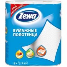 """Кухонные полотенца """"Zewa"""" белые, 2 слоя (1*2 рул./уп.)"""