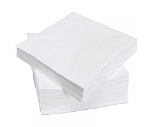 Салфетки столовые белые (очень белые, 24х24, 100% целлюлоза, 100 шт./уп.)