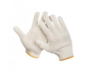 Перчатки ХБ без ПВХ, 5 нитей, 10 класс вязки, цвет:  белый