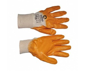 Перчатки маслобензостойкие МБС,  неполный облив нитрилом (манжет трикотажный)