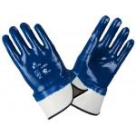 Перчатки маслобензостойкие МБС,  полный облив нитрилом (манжет крага)