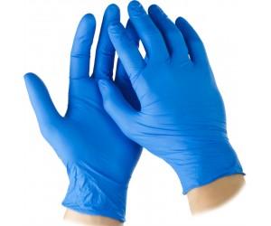 Перчатки нитриловые текстурированные на пальцах