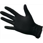 Перчатки нитриловые, неопудренные, черные, одноразовые 100шт